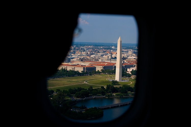 Washington Monument from the Air : DC : USA