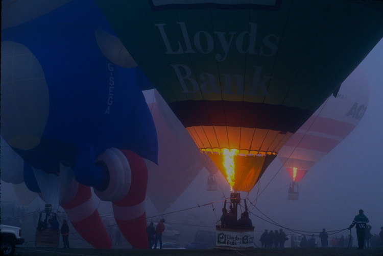 Hot Air Balloons in Fog : West Country : UK