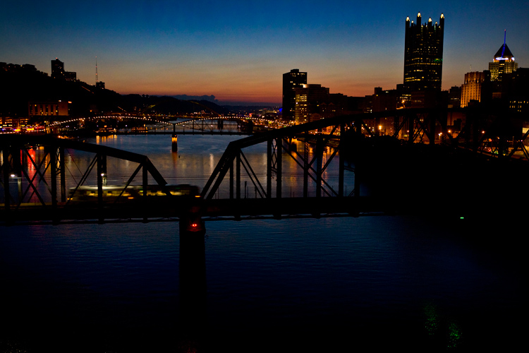 View from The City of Bridges : Pittsburgh : USA