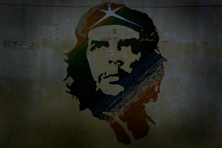 Che Painted on the Wall : Havana : Cuba