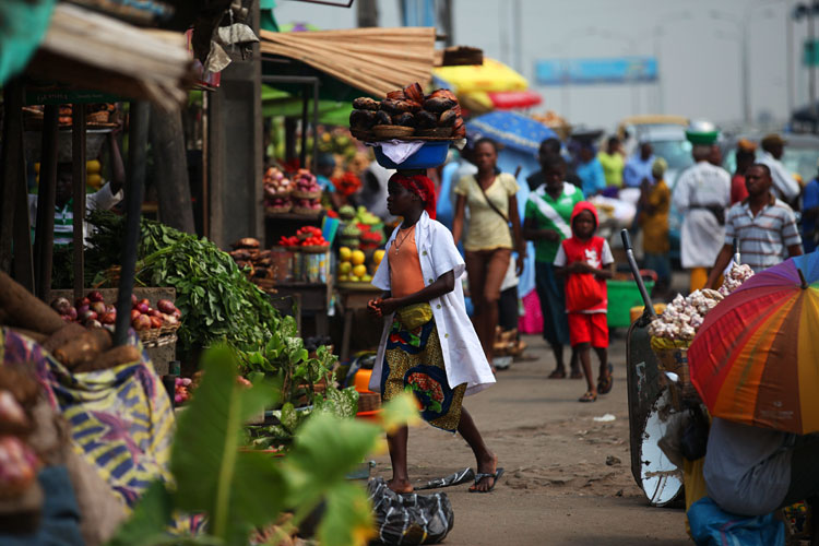 Market of Color and Madness : Lagos : Nigeria