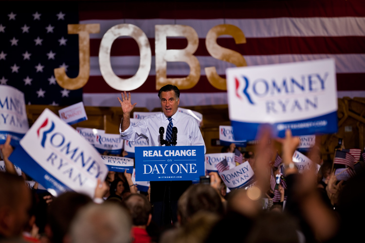 Romney Addresses Supporters : Columbus : Ohio