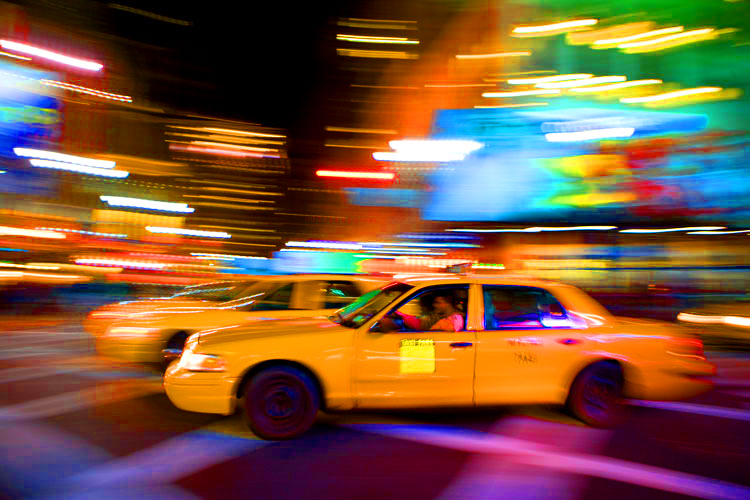 Speeding Taxi in Camera Bag Horror : Penn Station : NYC