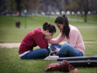 Prayer and tears : Virginia Tech Campus : Blacksburg Virginia